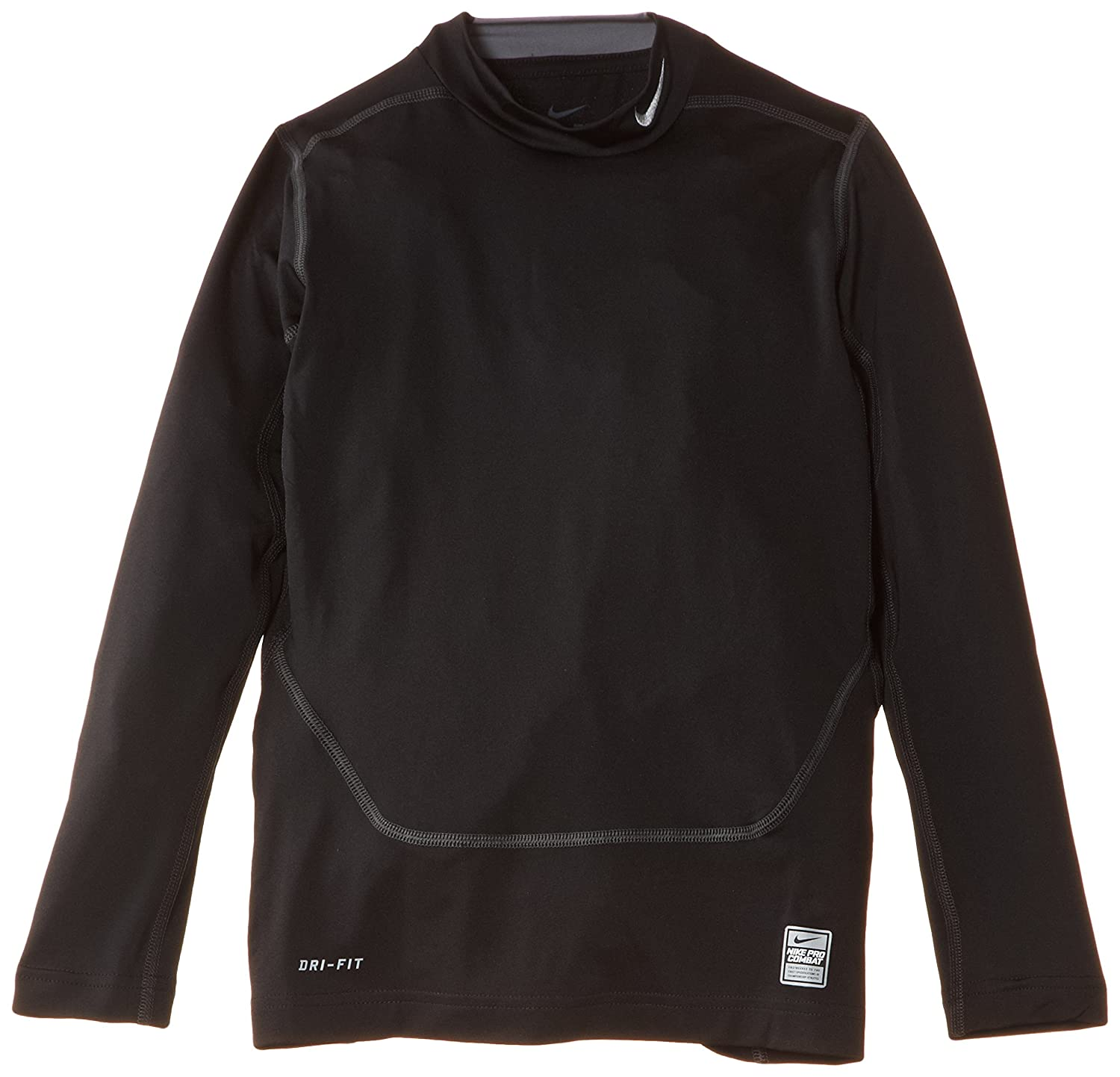 Nike Core Compression Mock Long-Sleeved Shirt black/cool grey Size:L Small 522803-010 522803-010_010_S