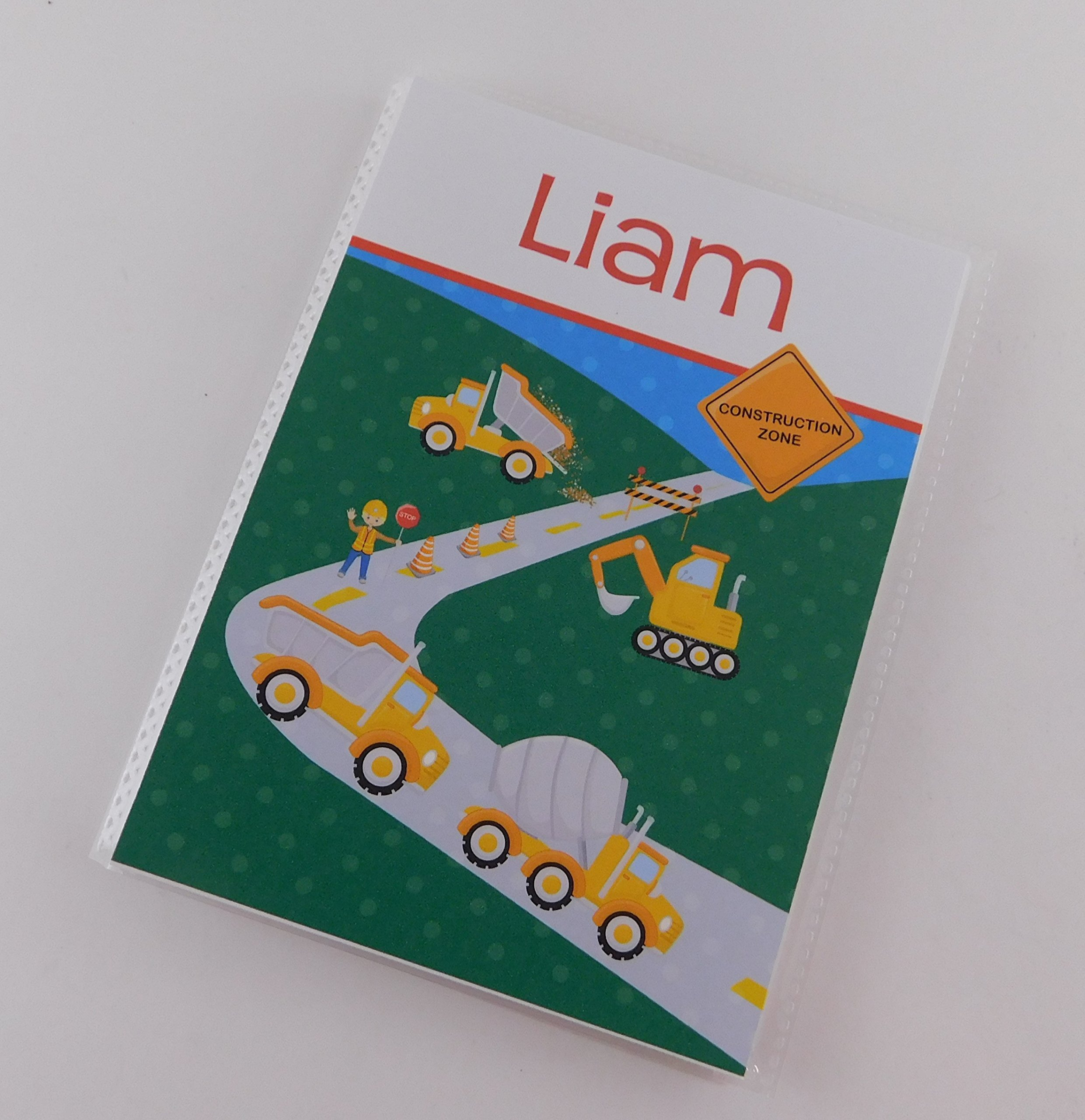 Dump Truck Photo Album IA#807 Construction Zone Personalized Boy Birthday Gift 4x6 or 5x7 Pictures