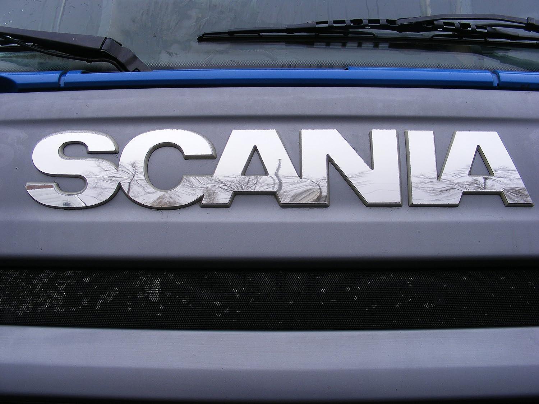 1/x D/écoration de Miroir en acier poli inoxydable Badge unique pour Scania R 2010?2016
