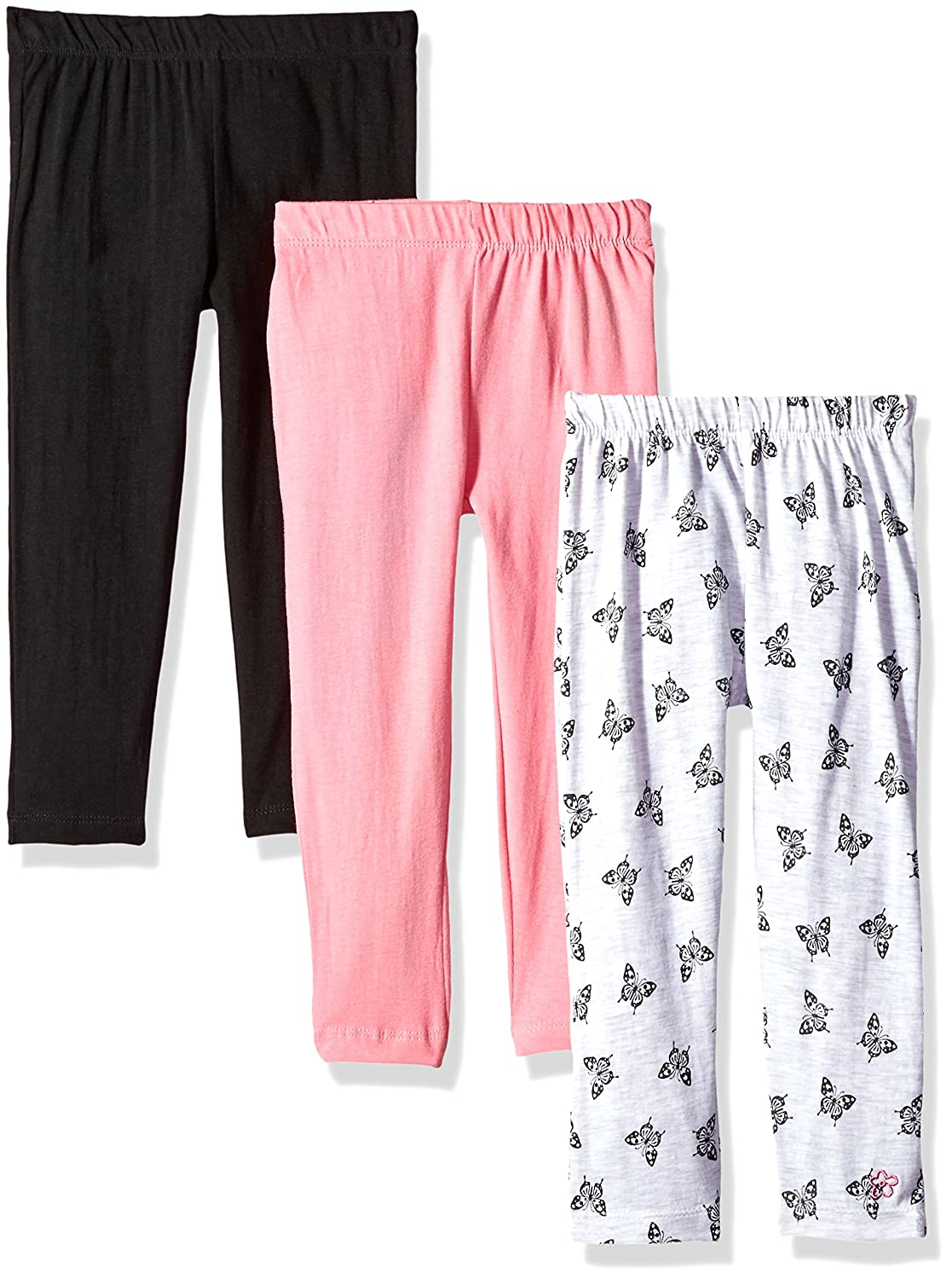 Limited Too Toddler Girls' 3 Pack Jersey Spandex Legging Pant (More Styles Available), Multi Print, 4T