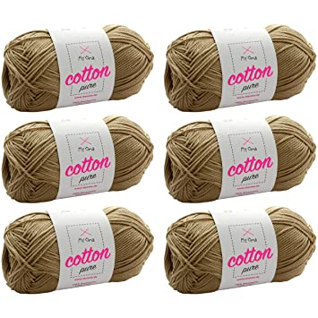 Myoma Baumwollgarn Hakeln 6x Cotton Pure Sandstein Fb 0221 Gratis