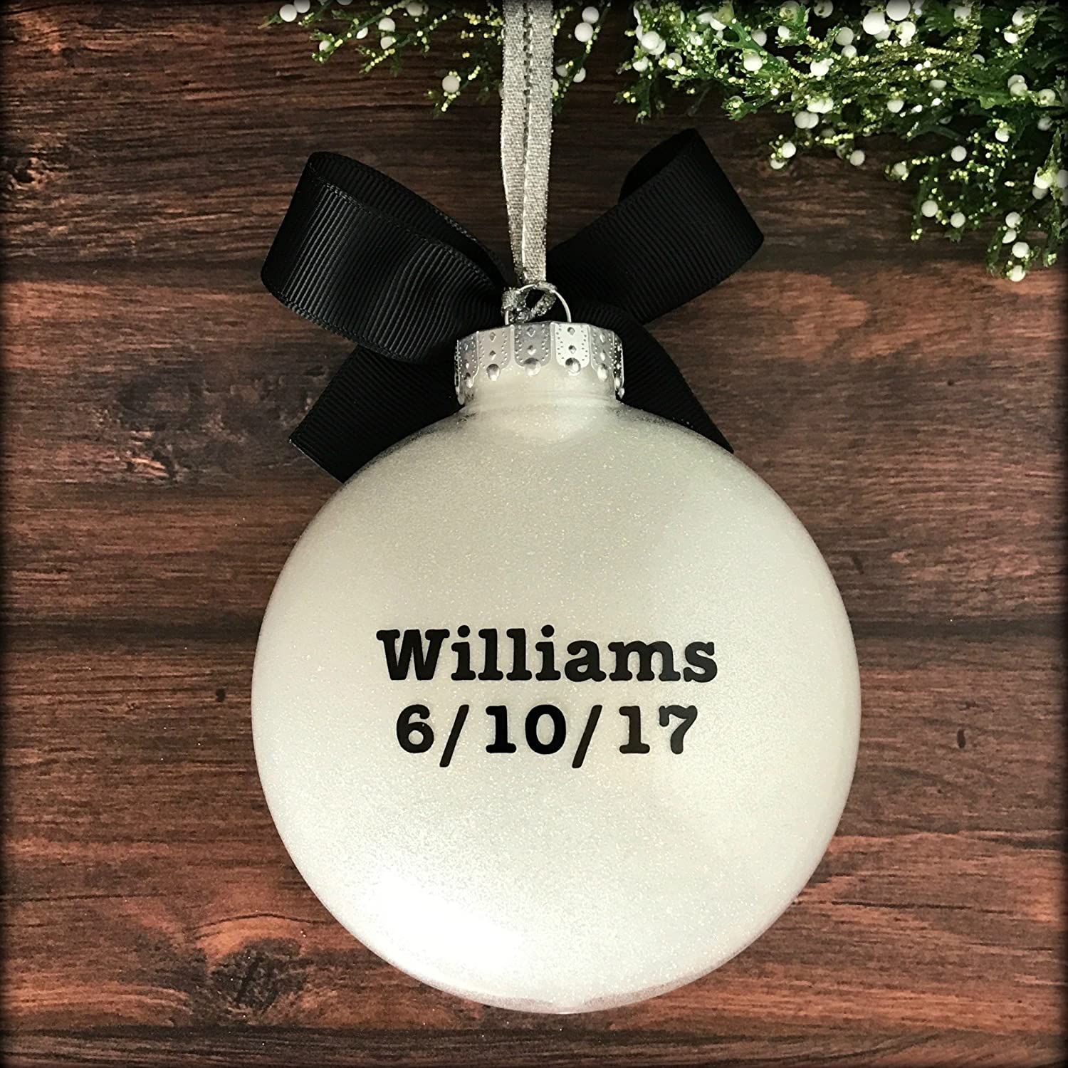 Amazon.com: Wedding Ornament 2018, Wedding Christmas Ornaments 2018 ...