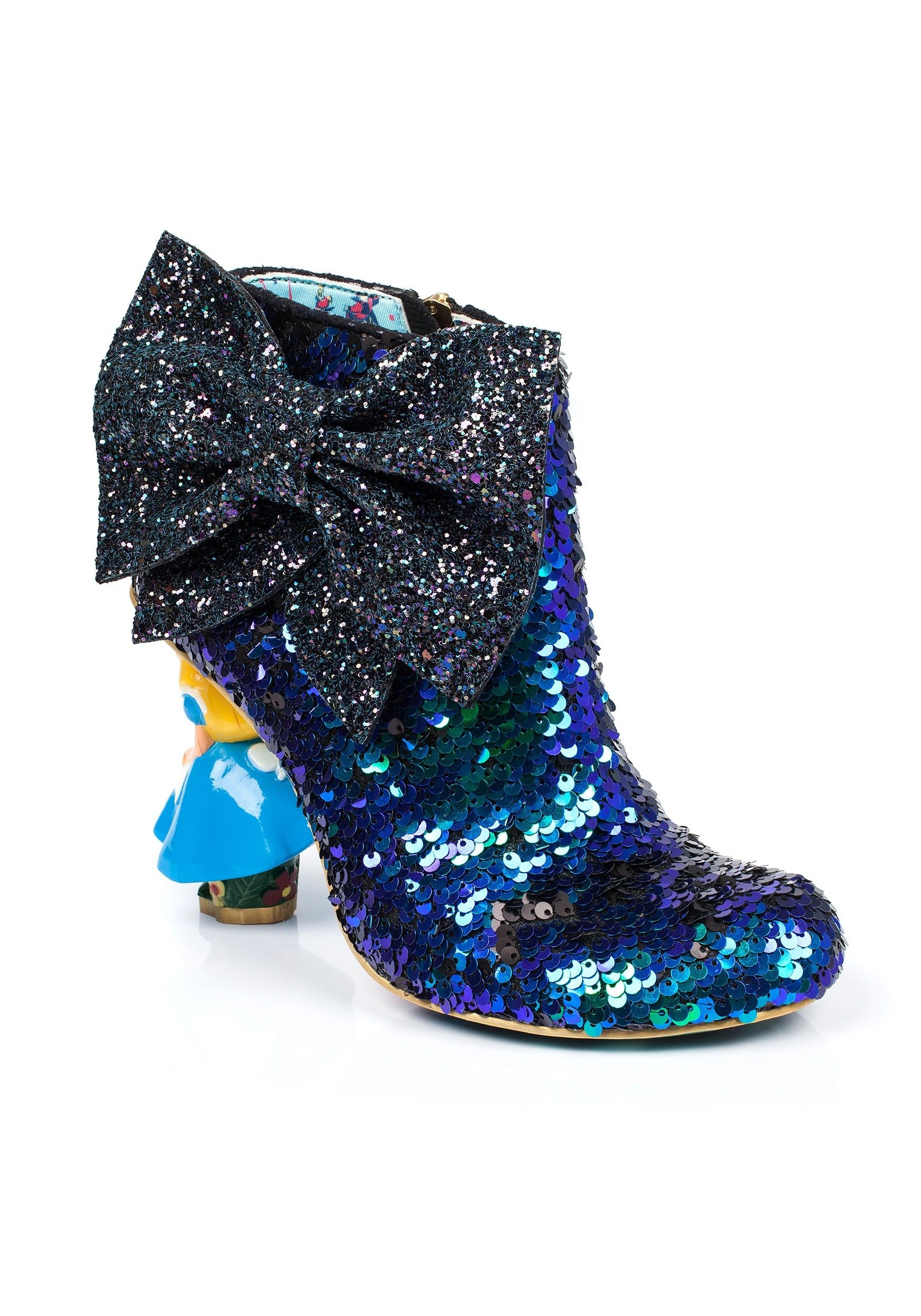 Alice In Wonderland Who In The World Am I Sequined Boot Size 7