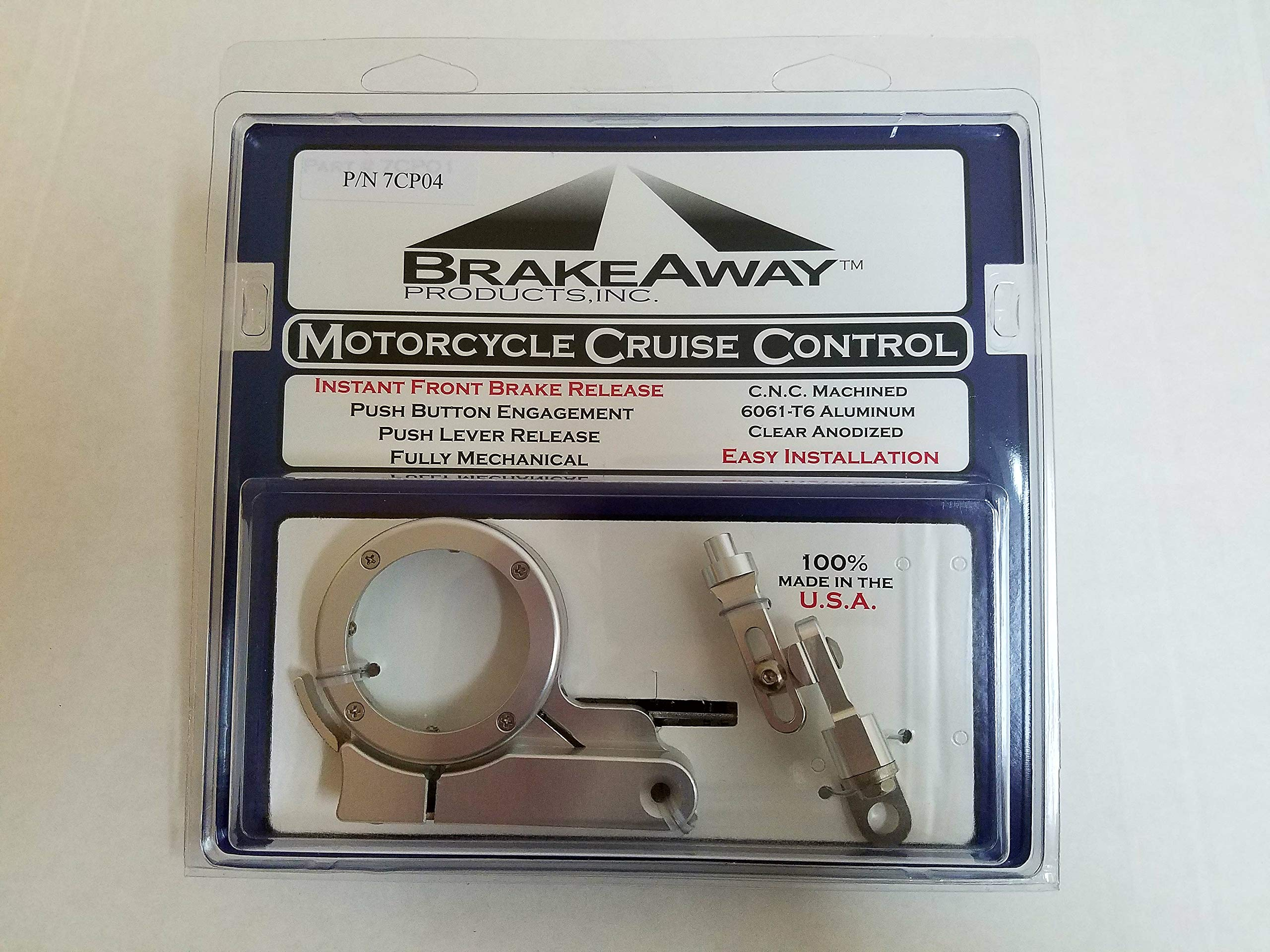 7CP04 BrakeAway Motorcycle Cruise Control For Metric Cruisers