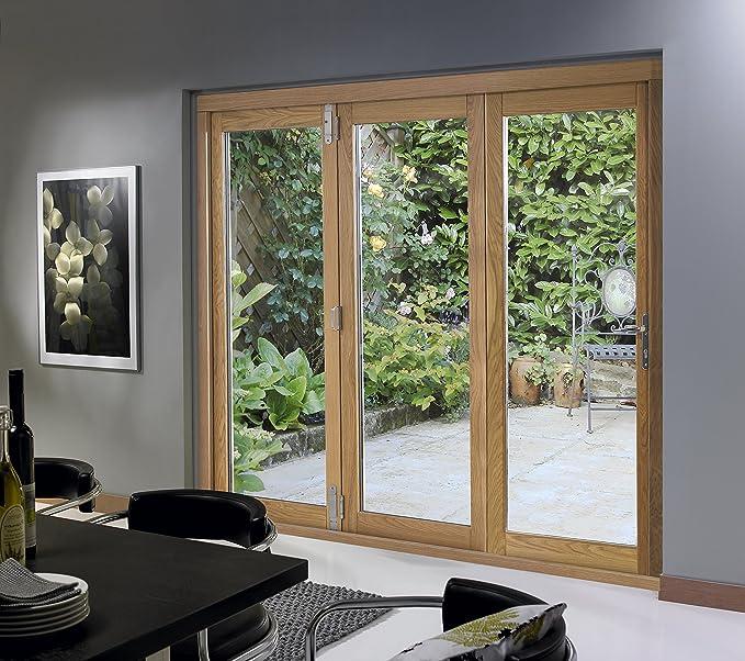 Deluxe 2090 mm (213,36 cm) Bi-plegable puertas con marco de madera de roble: Amazon.es: Bricolaje y herramientas