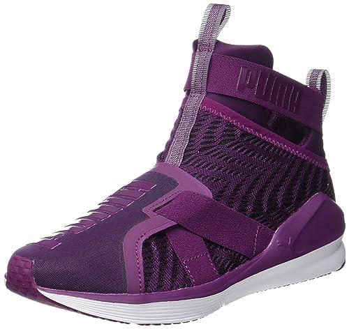 be5b73a7 Puma Women's Fierce Strap Swirl WN's Dark Purple-Puma White ...