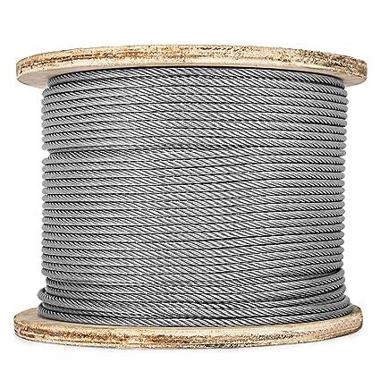 Amazon.com: Happybuy - Cable de acero inoxidable de 500 pies ...