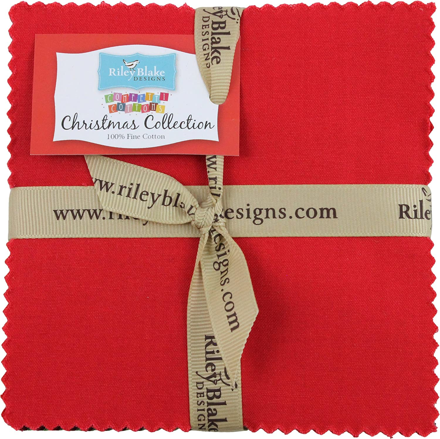Confetti Cottons Christmas 5 Stacker 42 5-inch Squares Charm Pack Riley Blake Designs 5-CH120-42