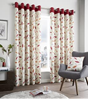 Colorful Cotton Door Curtains-137 x 213 cm Modern Orange, Rust and ...