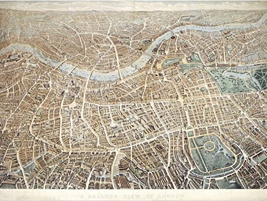 Effingham A Balloon View Of London As Seen From Hampstead Extra Large Art Poster