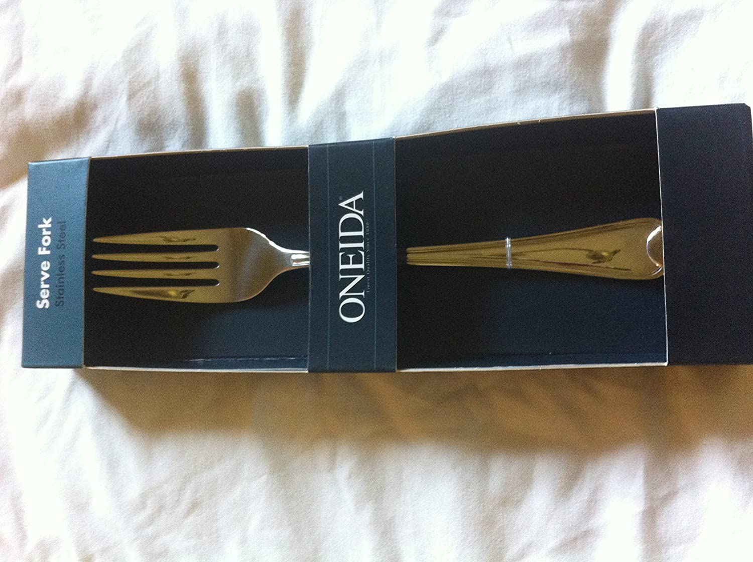 Oneida 'Flambe' Stainless Steel Serve Fork