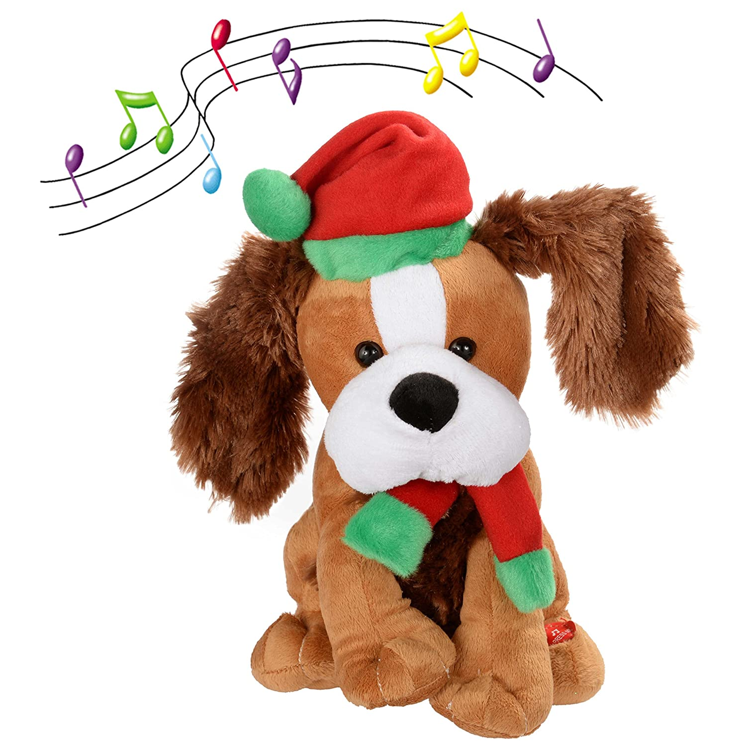 WeRChristmas Standing and Singing Dog with Flapping Ears Christmas