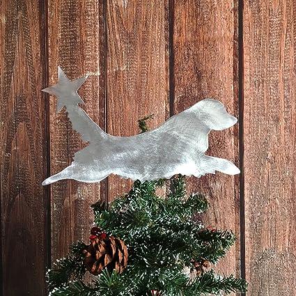 golden retriever dog christmas tree topper holiday decoration aluminum