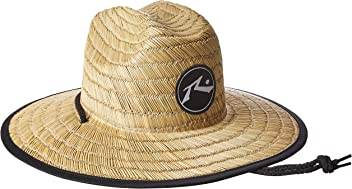 Rusty Mens Boony Straw Lifeguard Hat