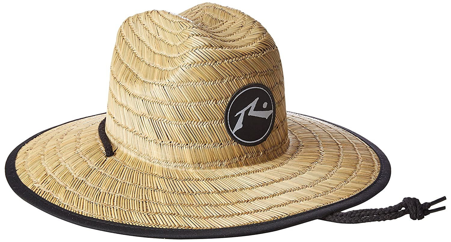 Rusty Men's Boony Straw Lifegaurd Hat, Natural, Medium/Large Rusty Men's Apparel HHM0082-NA3