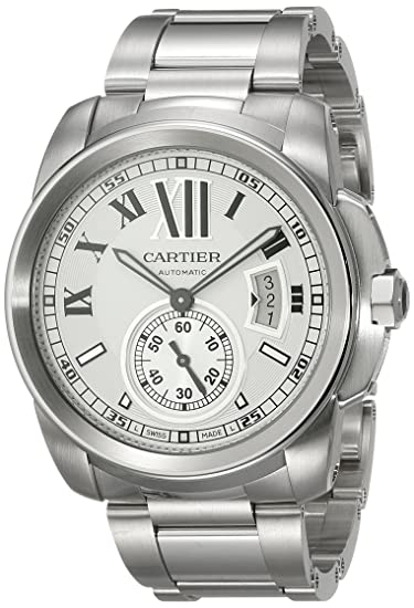 Cartier W7100015 - Reloj de pulsera hombre, acero inoxidable, color plateado: Amazon.es: Relojes