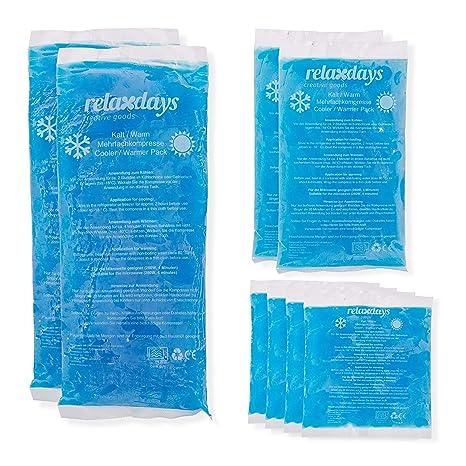 Relaxdays Pack de 8 Bolsas Frío Calor Reutilizables para ...