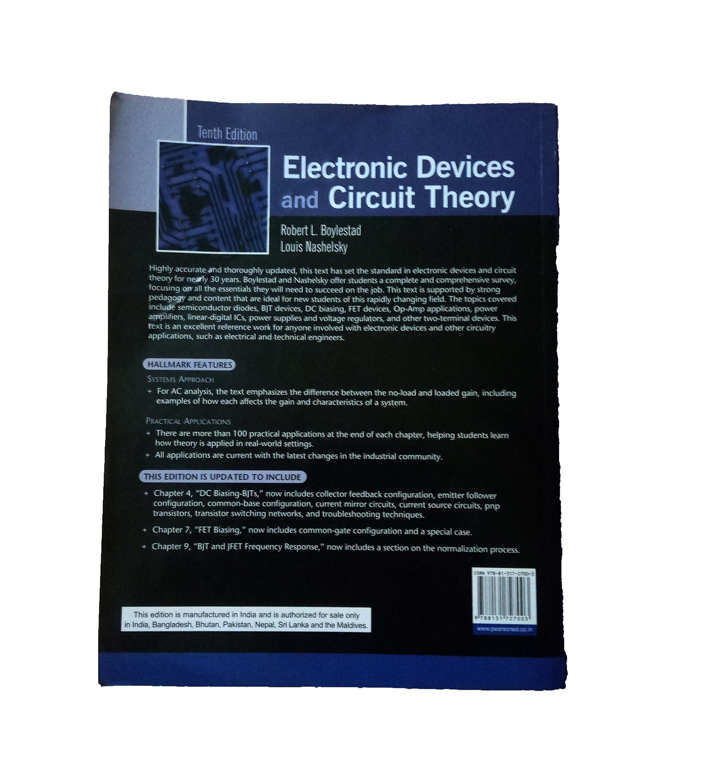 Buy Integrated Electronics Analog And Digital Circuits Systems 2 Electronic Devices Circuit Theory Book Online At Low Prices In India Reviews Ratings