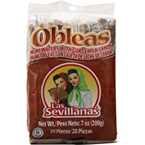 Mini Obleas with Cajeta (20 Delicious Wafers with Goats Milk Candy)