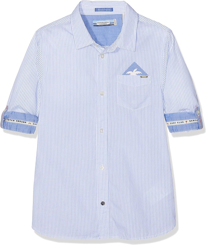 Scotch /& Soda Jungen Regular Fit Blue Series Shirt Hemd