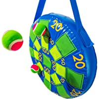 Franklin Sports - Juego de Dardos hinchables para niños, con 3 Pelotas de Tenis y Dardos autoadherentes, 20 x 20 Pulgadas, Color Azul y Verde