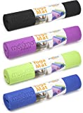 Maximo Fitness Yoga Mat - Includes Carry Bag - 6mm Thick - Comfortable, Non Slip Exercise Mat - Perfect for Yoga, Pilates & Floor Exercises - Lifetime Warranty.