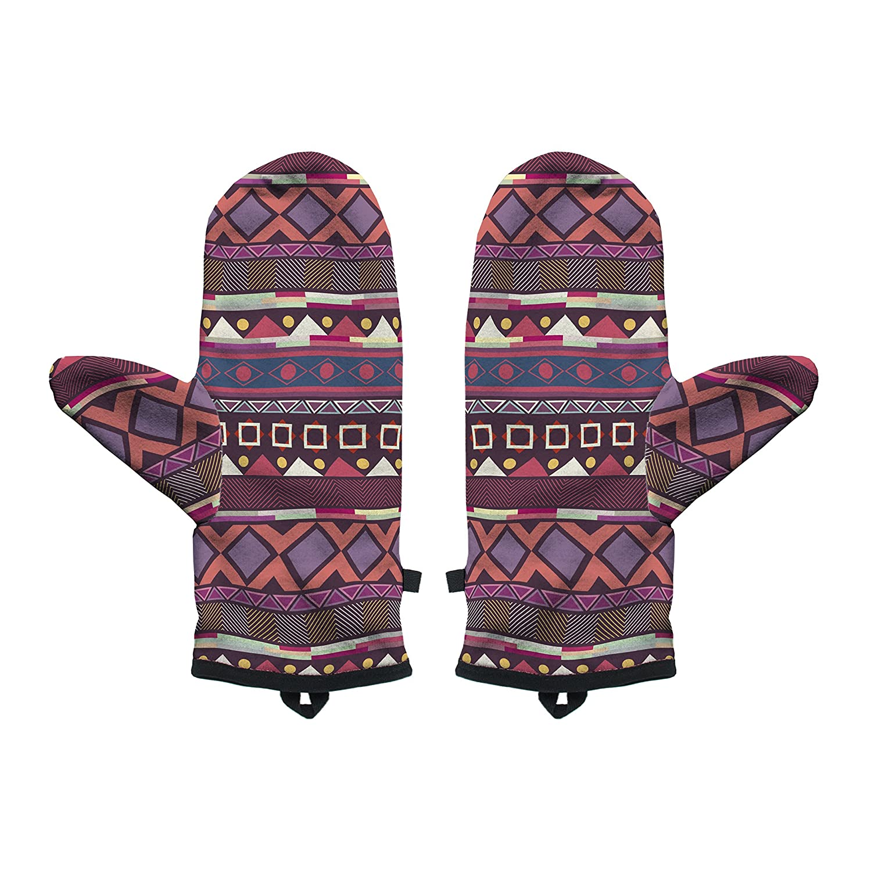 Fringoo Baby Boys Winter Mitten Warm Gloves Cosy Windproof Christmas Pug Cat Small//Medium Aztec Plum