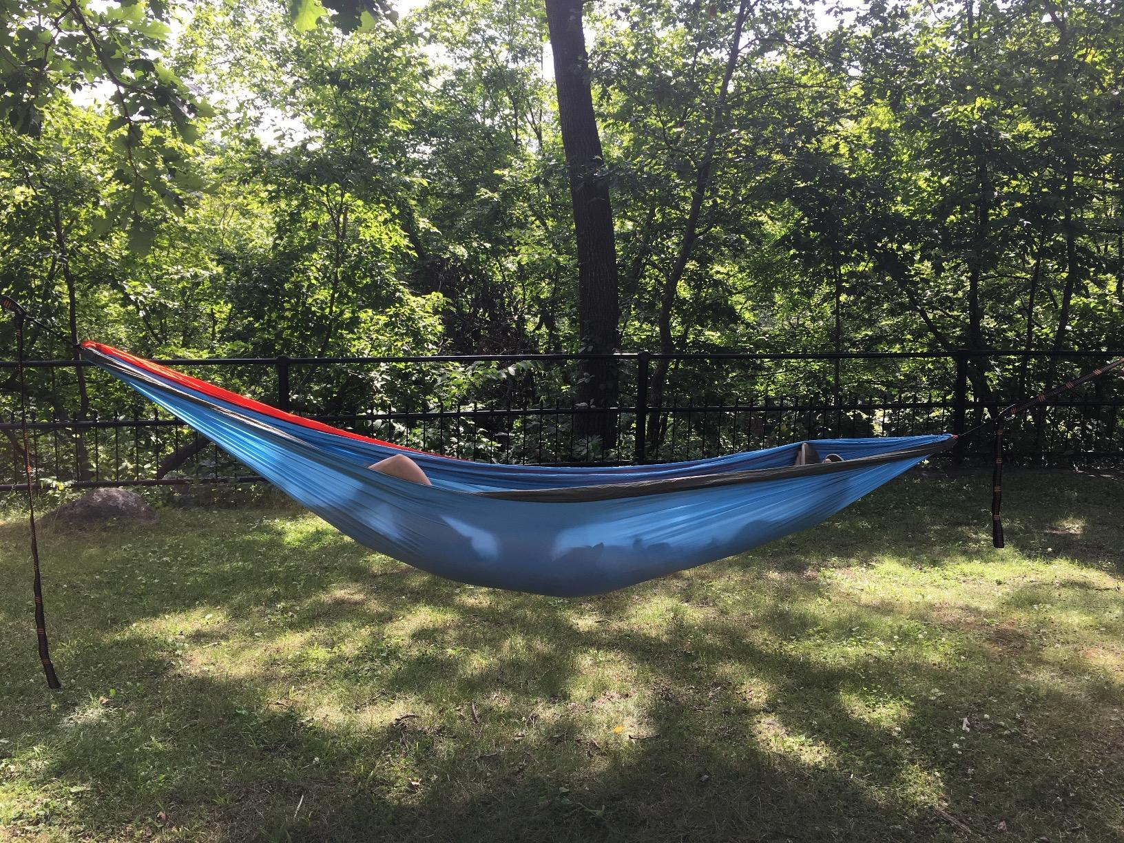 Eagles Nest Outfitters ENO DoubleNest Hammock-Perfect to relax in after a long day