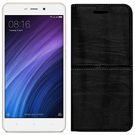 sports shoes 65f6e b6298 Roxel Redmi 4A Rich Boss Leather Flip Cover with: Amazon.in: Electronics