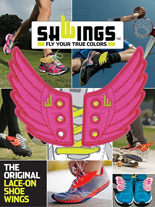 SHWINGS NEON PINK wings for your shoes official designer Shwings NEW 10207