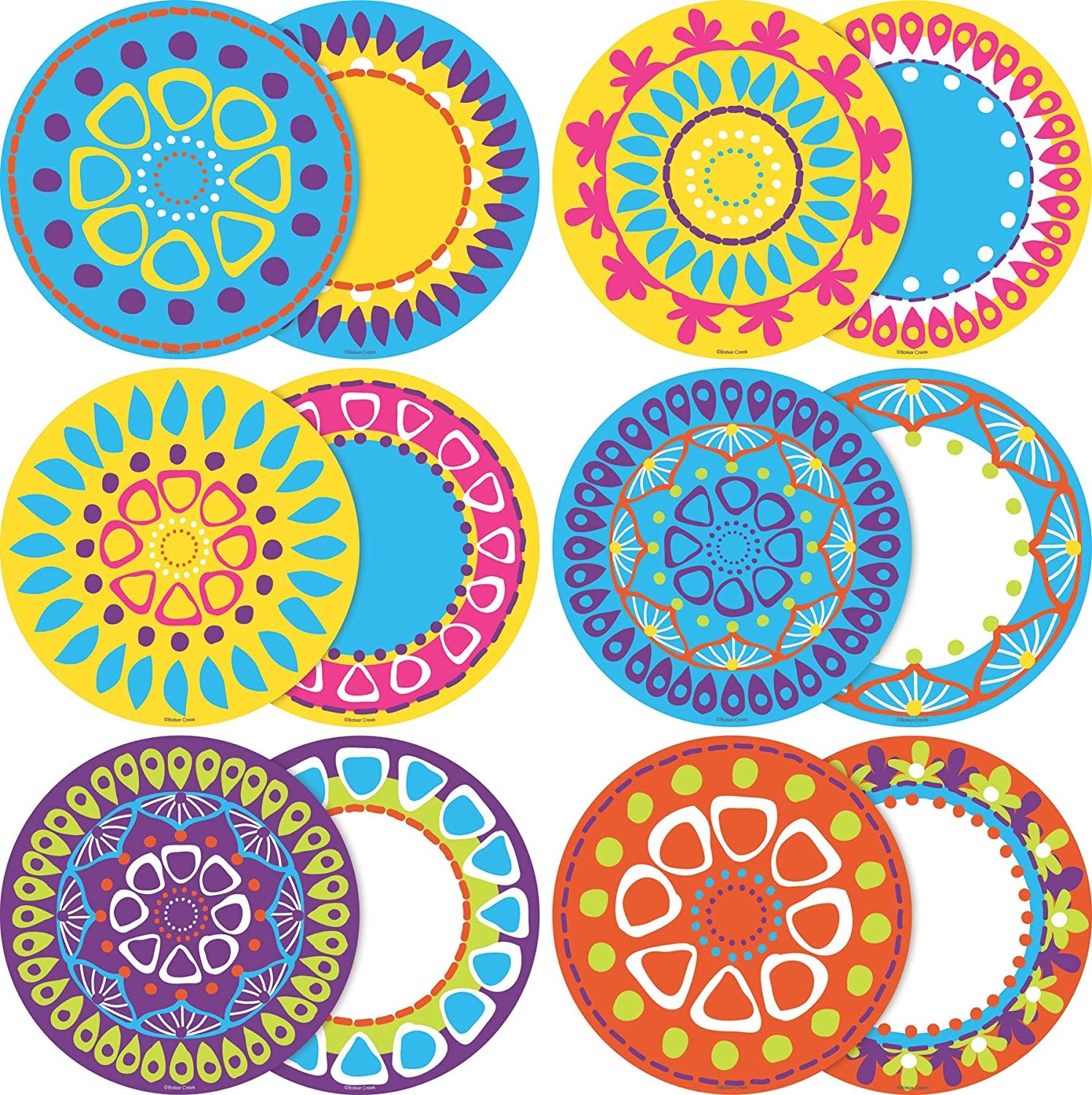 Barker Creek Double-Sided Bulletin Board Decorations, Moroccan, 36-Count (LL-2209)