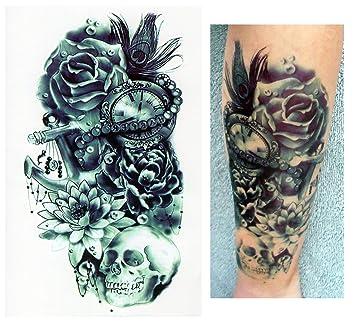 Tatuajes temporales Tempo rary Tattoo Fake Tattoo – Flores Reloj ...