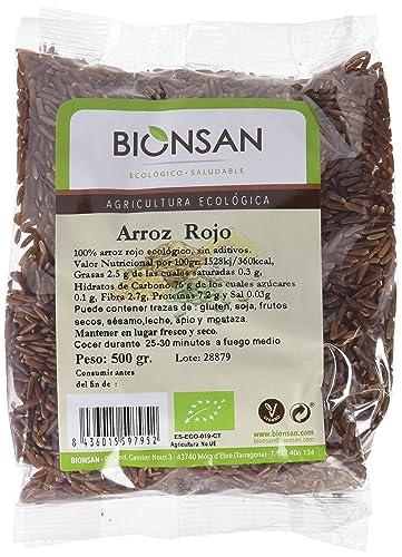 Bionsan Arroz Rojo Ecológico - 6 Bolsas de 500 g - Total: 3 kg ...
