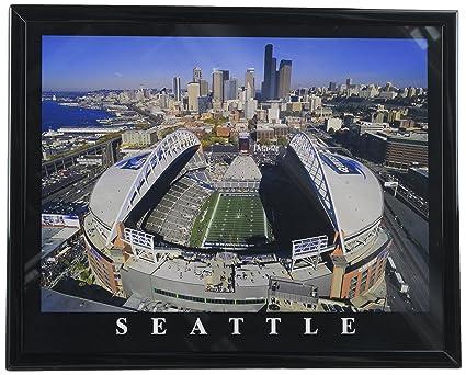 Amazon.com - Frame Football Seattle Seahawk Aerial Stadium Photo ...