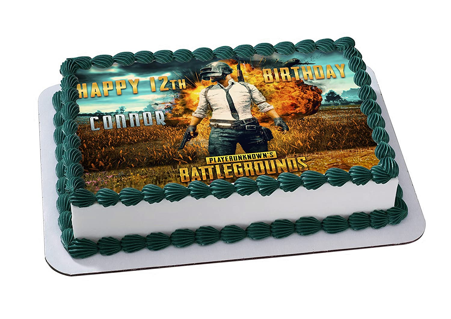 Playerunknown S Battlegrounds Edible Image Cake Topper Personalized