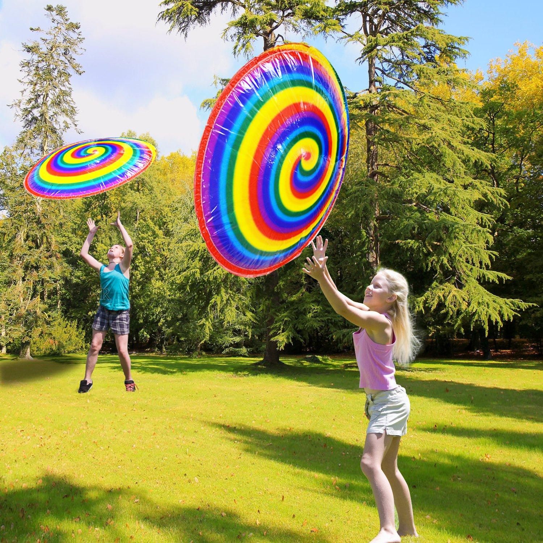 Hover hyperdisc Flying Disc Aire Spinner Rainbow Impreso ...