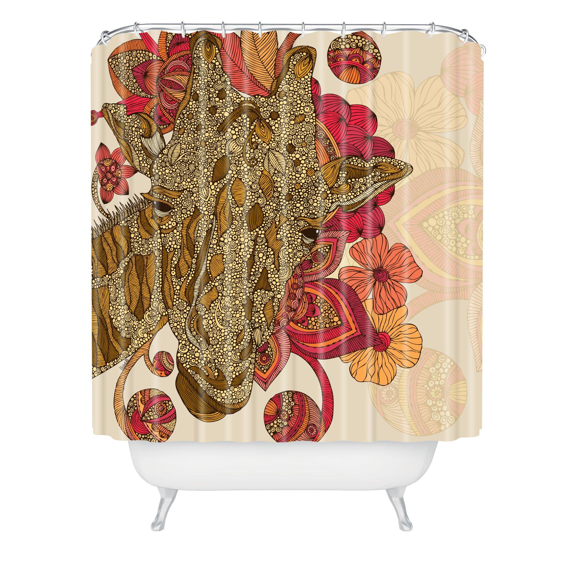 Deny Designs Valentina Ramos The Giraffe Shower Curtain, 69 by 72-Inch