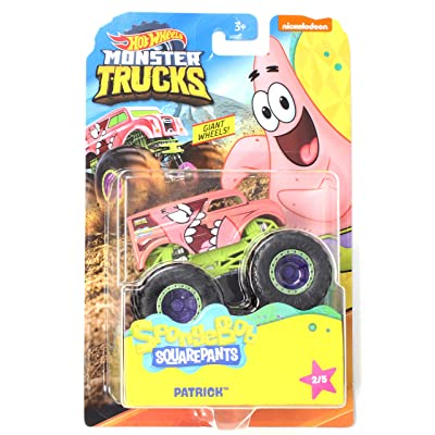 HW Monster Trucks Patrick Spongebob Squarepants Series 2/5 Giant Wheels 1:64th Scale 2020: Toys & Games [5Bkhe1203173]