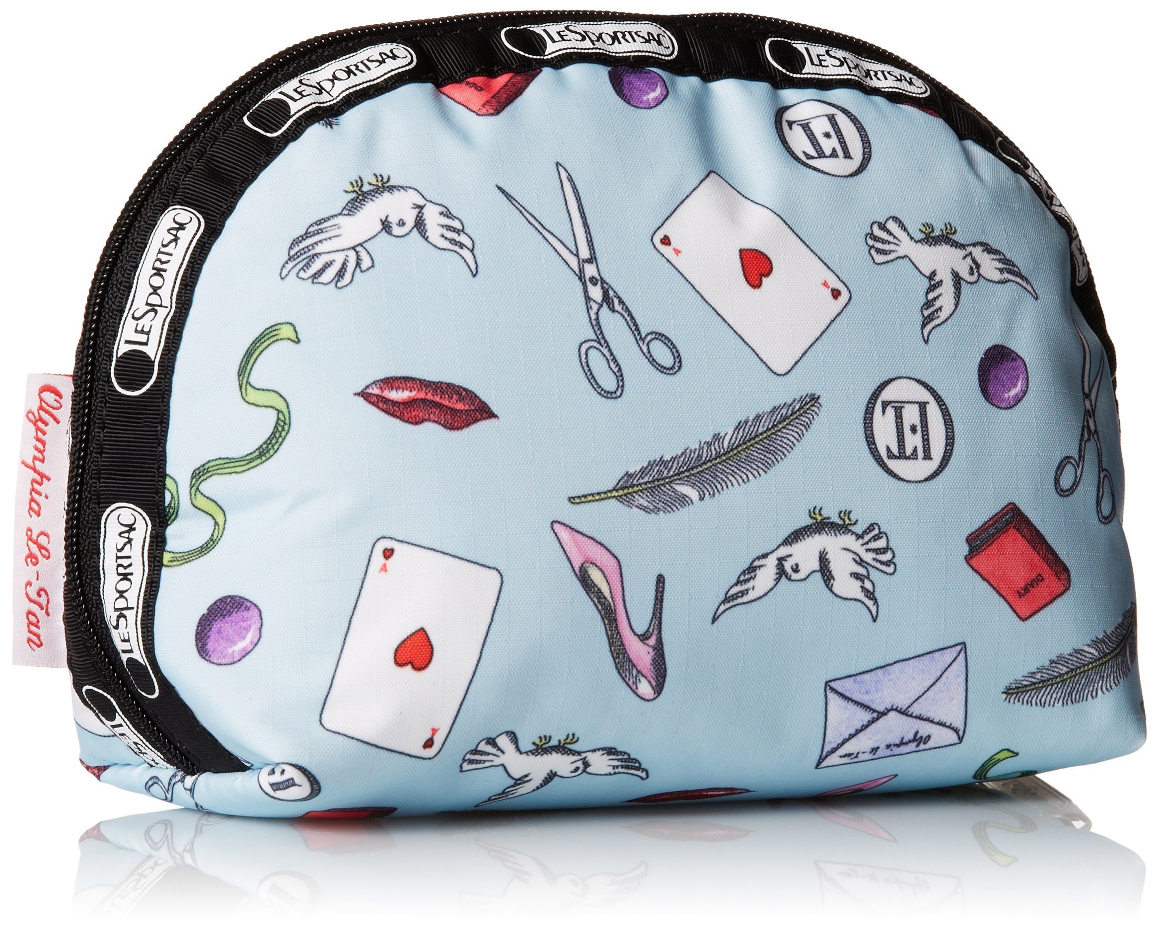 LeSportsac Medium Dome Cosmetic Case, Love Letters Blue, One Size by LeSportsac (Image #2)