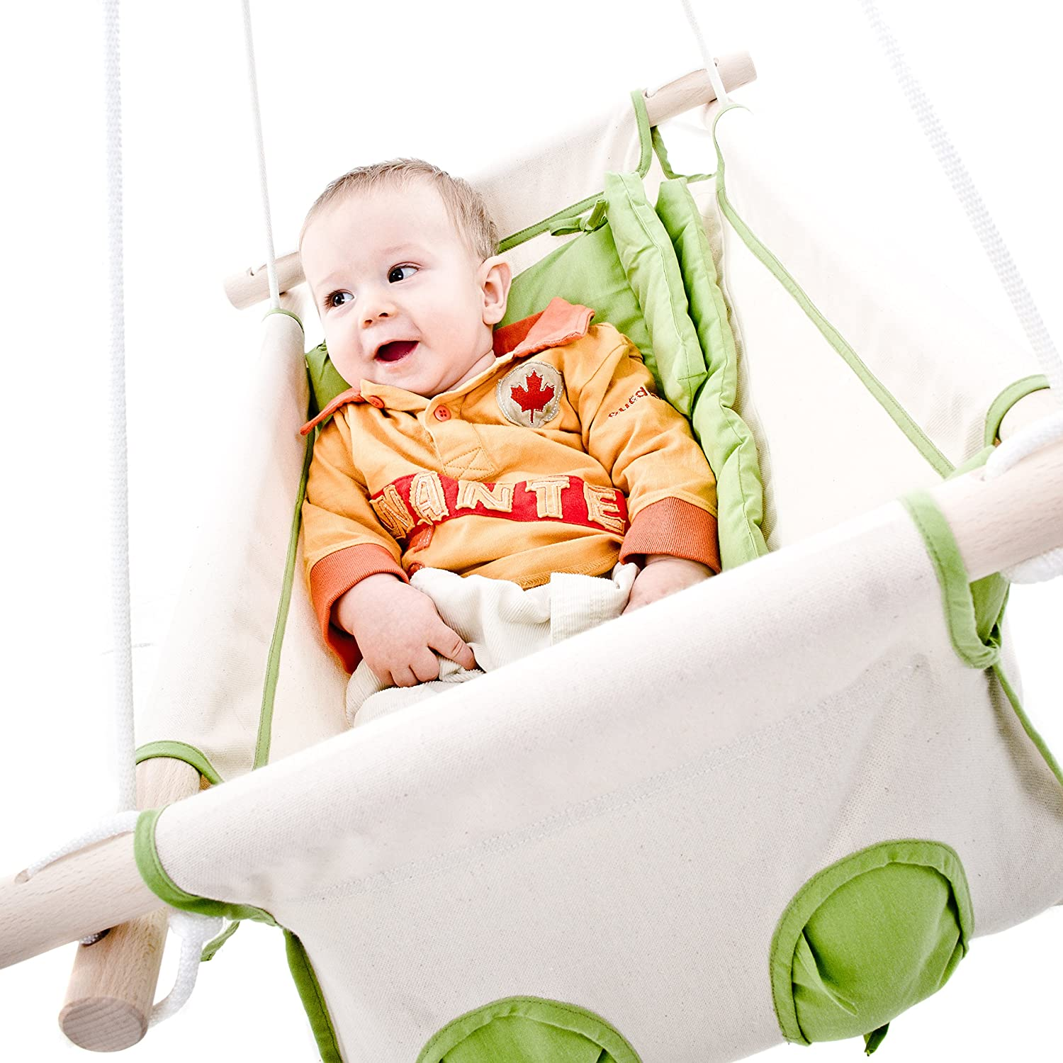 amazon     beto baby swing baby hammock cradle swing with spring and spreader bar  green beige    baby amazon     beto baby swing baby hammock cradle swing with      rh   amazon