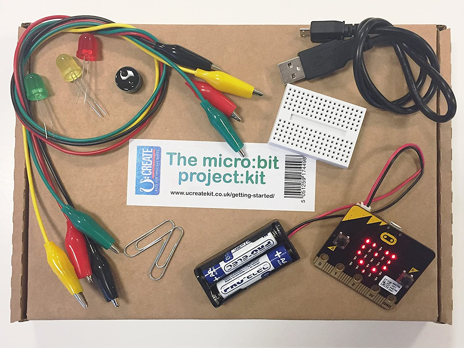 Ucreate Microbit Kit Project Computers Accessories Electronic Circuit Kits For Adults Uk