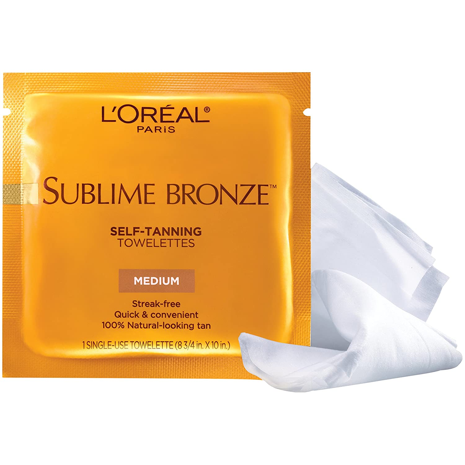 L'Oreal Paris Sublime Bronze Self-Tanning Body Towelettes, 6 Count L' Oreal Paris Skin Care L' OREAL848028