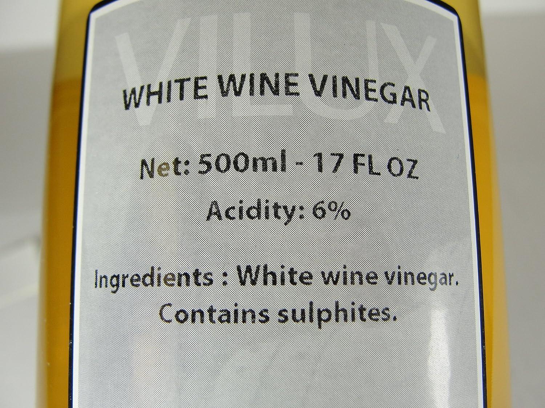 Amazon Com Vilux Vinaigre De Vin Blanc White Wine Vinegar  # Table Tv En Rouge Et Blanc