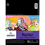 Canson Artist Series Pro Layout Marker Pad, Semi-Translucent for Pen, Pencil and Marker, Fold Over, 18 Pound, 9 x 12 Inch, Wh