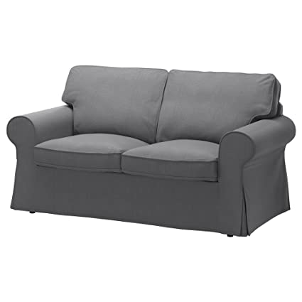 IKEA Original Ektorp Cover for Loveseat, (2-Seat Sofa) (Cover Only (Nordvalla Dark Gray)