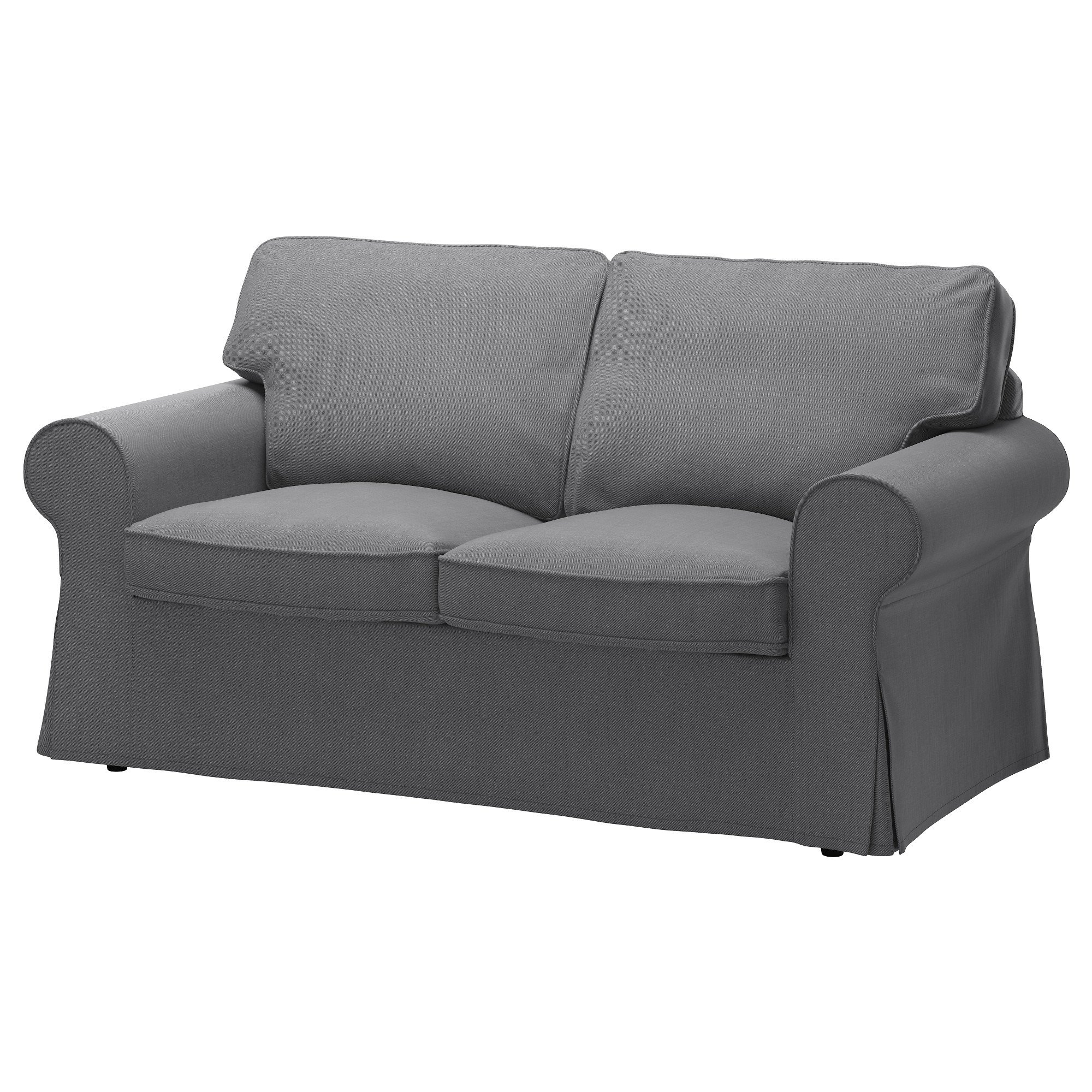 IKEA Original Ektorp Cover for Loveseat, (2-Seat Sofa) (Cover Only - Various Colours) (Nordvalla Dark Gray)