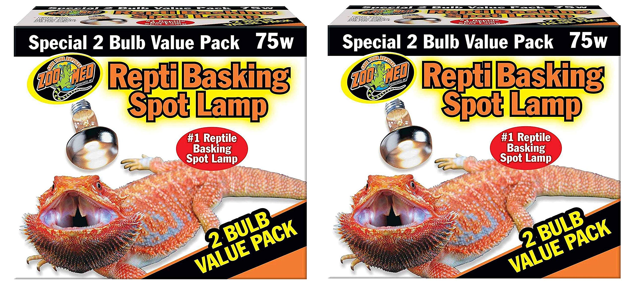 Zoo Med 4 Pack of Repti Basking Spot Lamp, 74 Watts, for Reptile Terrariums by Zoo Med