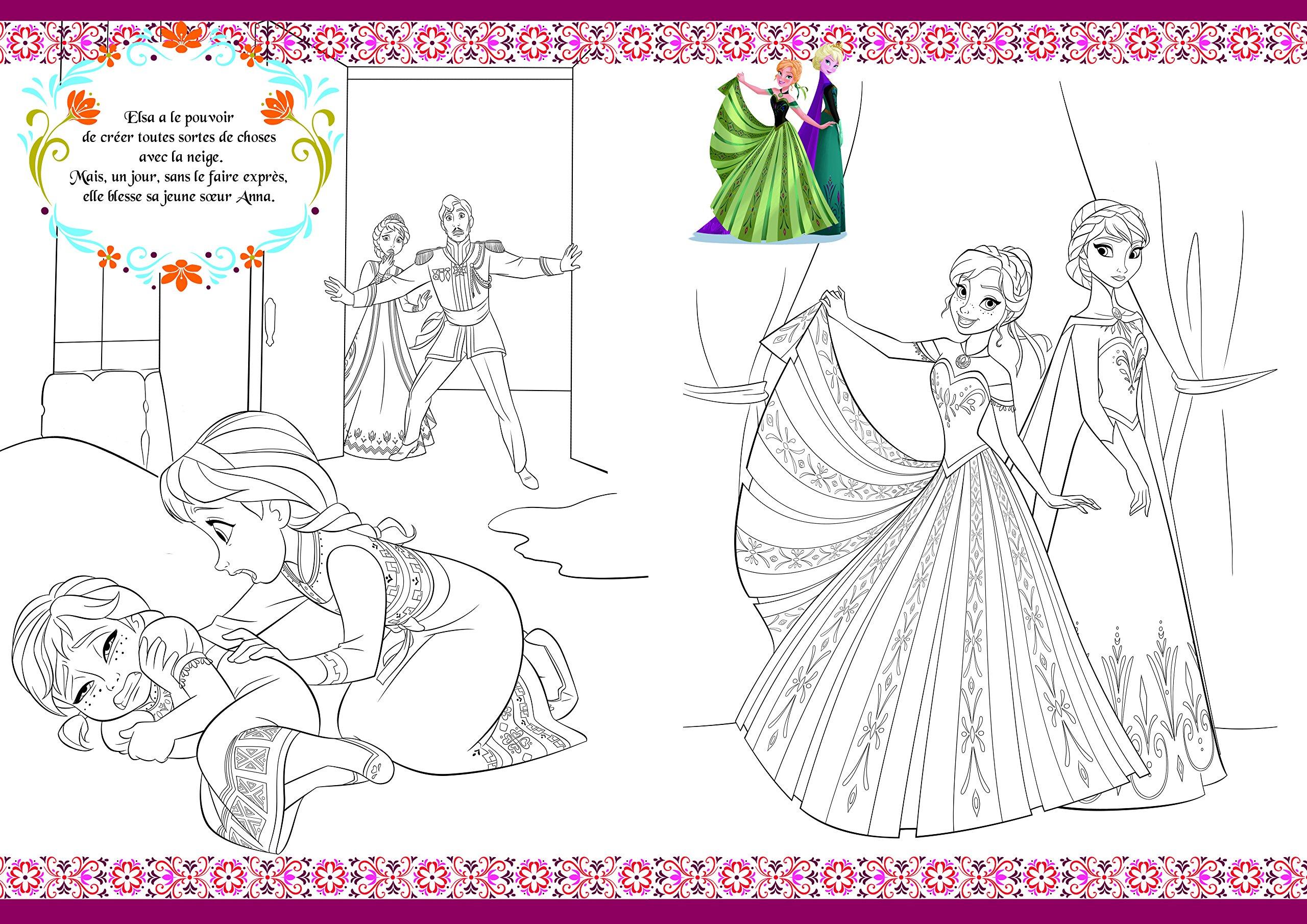 Amazon Disney La Reine des Neiges Coloriage avec stickers DISNEY Livres