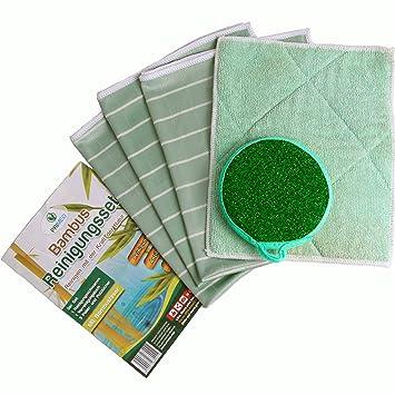 Paño de limpieza, toalla de bambú 5 unidades) – Original primeo paños y esponja