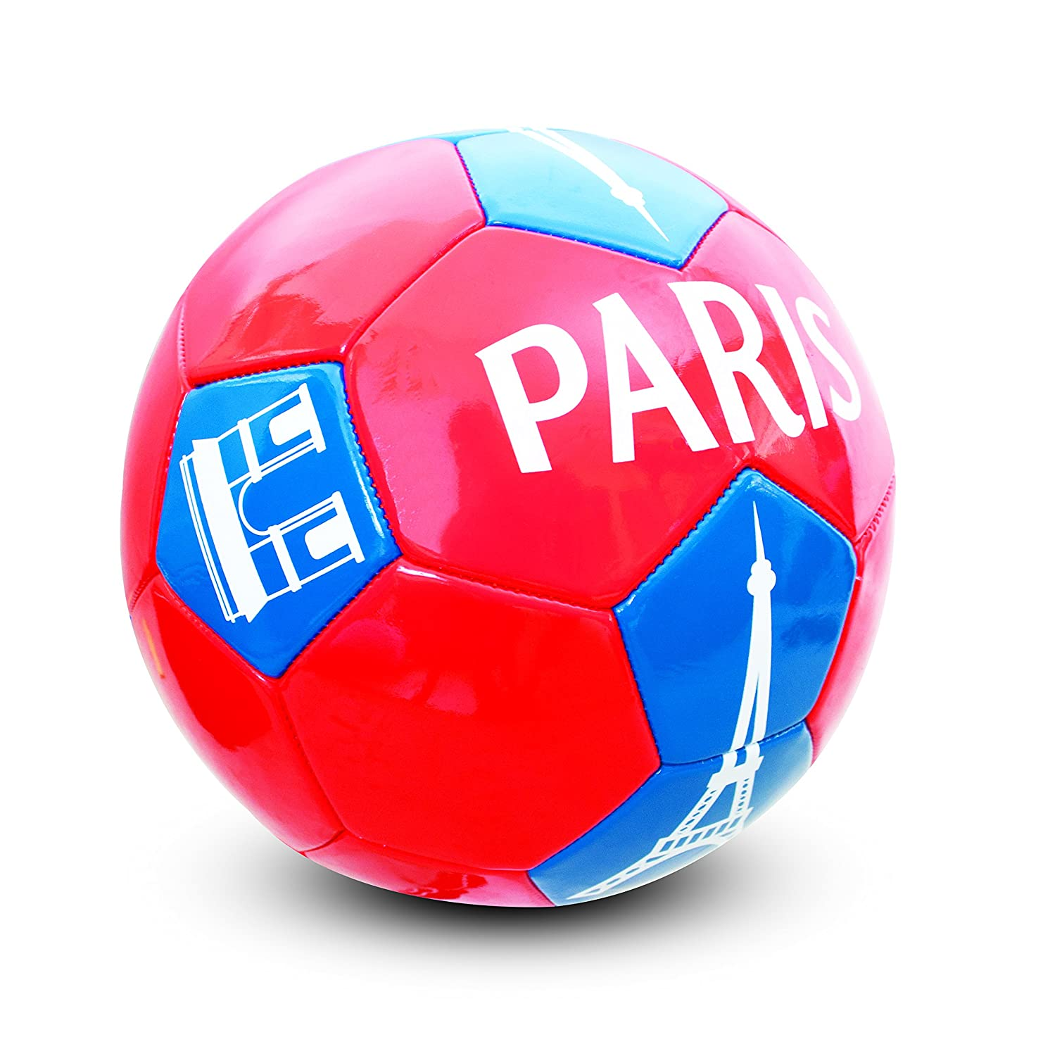 HOLISPORT - HP04594 - Ballon de Football 'Paris' - Mixte - Multicolore (Rouge/Bleu) - Taille: 1 HOM1W|#HOLISPORT